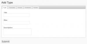 Screenshot: Inhaltstyp erstellen