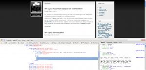 Screenshot: HTML Inspektor