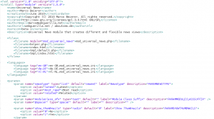 Screenshot: Joomla Modul XML